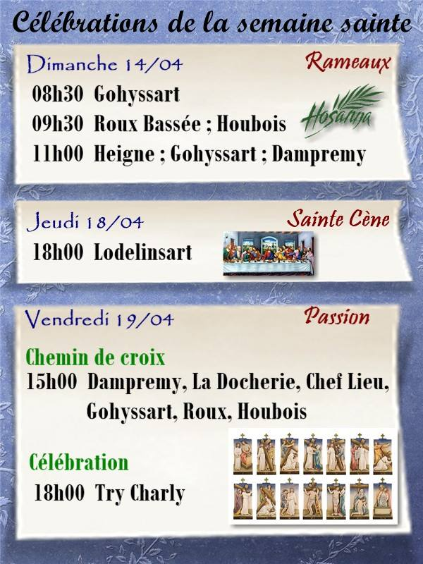 affiche semaine sainte