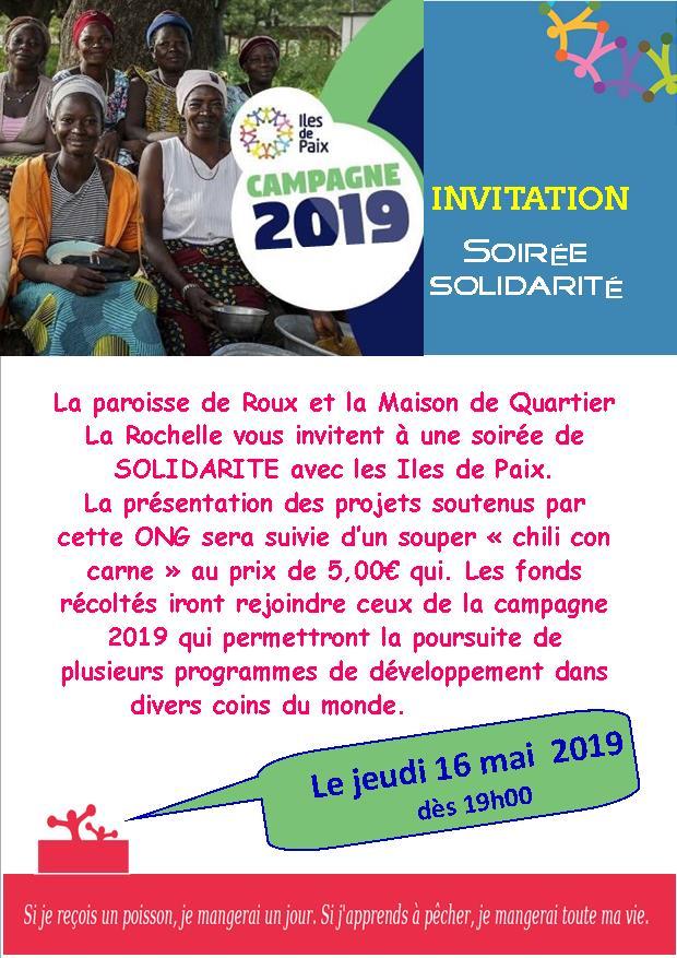 invitation soirée iles de paix 2019